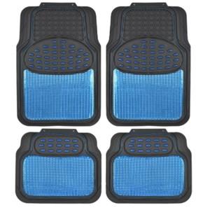 BDK Metallic Auto Floor Mats Blue-Black