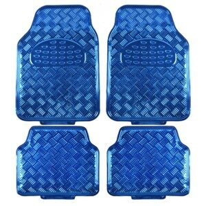 BDK Metallic Universal Fit Auto Floor Mats Blue