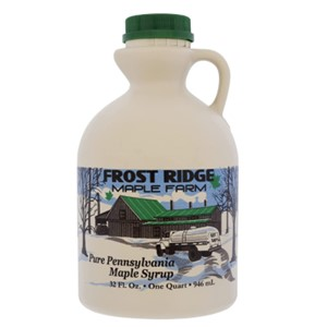 Frost Ridge Maple Farm Organic Maple Syrup Dark Robust